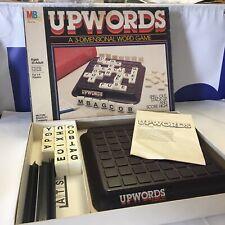 Vintage 1980's Milton Bradley UPWORDS 3-D Tile Word Building Game 100% Complete