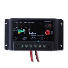 Black 12V/24V Solar Panel battery charge controller 10 amp Solar Pv system Mt
