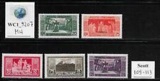 WC1_9207. IT. COL.:ERITREA. 1929 MONTECASSINO short set. Scott 109-113. MH