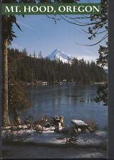 America Postcard - Winter Snow on Shore of Lost Lake, Mt Hood, Oregon B2575