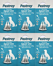 6 Pestrroy Flea & Tic treatment for Large Dogs (>15KG) *SPECIAL OFFER 5+1 FREE!*