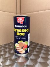 Amanda Pressed Tinned Roe - 1 x 600gm  As Used In Fish And Chip Shops