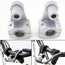 Universal 7/8'' Chrome Motorcycle HandleBar Handle Fat Bar Mount Clamps Riser