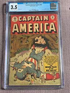 CAPTAIN AMERICA #69 CGC 3.5;  scarce; Weird Tales cover! GOLDEN AGE 1948