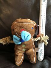 New listing Holiday Rope Sliders Gingerbread Man Dog Toy Plush Squeaker Inside Target