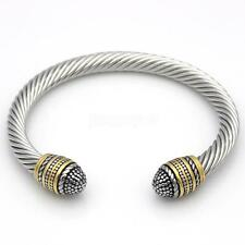 Fashion Men's Women's Stainless Steel Twisted Cable Wire Bracelet Bangle Jewelry