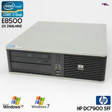 Office HP Compaq DC7900 SFF Slim Computer PC Windows XP 7 Core 2 Duo E8500 RS232