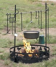 Camp Campfire Cooking Equipment Portable Outdoor Camping Set Hunting Hiking New