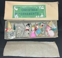 VINTAGE SET Of 8 COMMODORE JAPANESE ORNAMENTS IN ORIGINAL BOX - APPEARS NRFB!