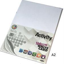 A2 White Craft Card 25 Sheets card making craft printer 160gsm