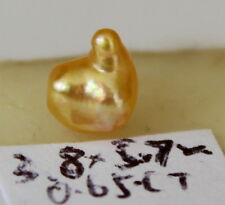 "5.7×3.8mm Genuine ""natural"" Australian golden south sea pearl 0.65ct"