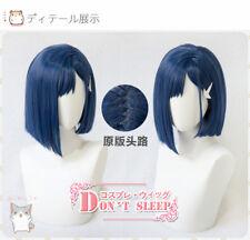 Cosplay Dark Blue Full Wig Short Hair Anime DARLING in the FRANXX Ichigo 015