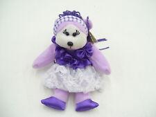 BEANIE KIDS BK871 KAYLA THE PURPLE GIRL BEAR 25.01.11 AQUARIUS COLLECTABLE BEAR