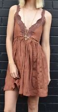 NWT Free People Breathless Lace Trim Dress Size Xs Color Copper New