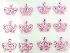 Pink Princess Crown Babyshower Kids Party Girls Room Wall Window Decoration Seal
