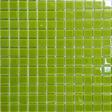 Glass Mosaic Wall Tiles Green (300x330x4mm) GTR10023 SHEET
