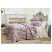 Purple Berry Rose Linen Blend Quilt  Simply Shabby Chic twin   NWOP