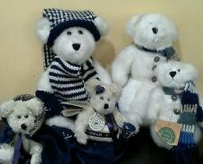 Lot of 5 Boyds bears incl Winter White & Blue Snowbears