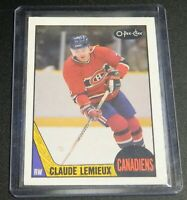 1987-88 O-Pee-Chee #227 Claude Lemieux Rookie RC - EX-MT/NM