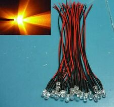 (20 pieces) 5mm Yellow flashing Wired LED light blinking 5v 12V DC 9V bulb
