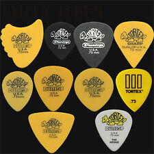 20 X Dunlop Tortex 0,73 mm Guitar Picks Variedad-Aletas, triángulo, Wedge Etc..