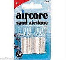 "Aircore 2 pack of 1"" SAND AIRSTONES Great for Protein Skimmers or Decorations"