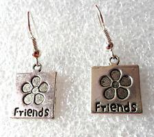 Dangle earrings - Tibetan silver style 'Friends'