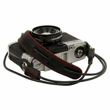 Black-Red leather neck strap for RF film Digital camera GX1 E-P X10 J1 Leica