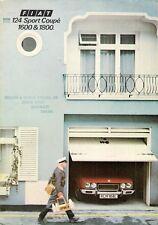 Fiat 124 Sport Coupe 1973-75 UK Market Sales Brochure 1600 1800