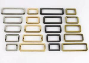 Flat Metal Rectangle D Rings 20/25/32/38mm Bag Hardware Strap Connectors