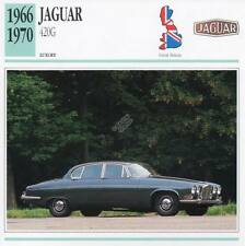 1966-1970 JAGUAR 420G Classic Car Photograph / Information Maxi Card