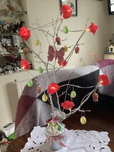EASTER TREE SPRING TREE ROSE Lights & Decorations for Easter BESPOKE EASTER TREE
