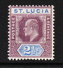 ST LUCIA 1902-03 2½d DULL PURPLE & ULTRAMARINE SG 60 MINT.
