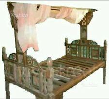 Letto baldacchino legno
