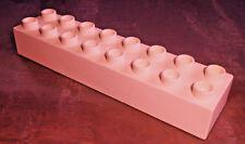 Lego Duplo 1 Stck XXL  Stein 2x8 16er Baustein beige Brick aus 4665 Steine