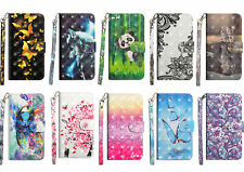 For Nokia Hot 3D Painted Flip Antislip Card Wallet Fashion Cute Phone Case Cover