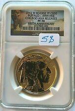 2013-W $50 1OZ REVERSE PROOF GOLD BUFFALO NGC PR-70 CHICAGO ANA RELESES