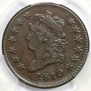 1810 S-285 R-2 PCGS XF 45 Classic Head Large Cent Coin 1c