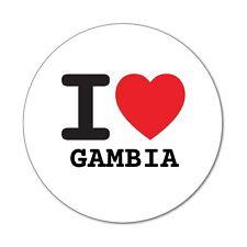 I love GAMBIA - Aufkleber Sticker Decal - 6cm