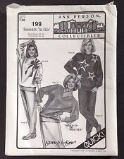 Vintage New Ann Person Collectibles Sweats Stretch & Sew Bust 30-46 Hips 32-48