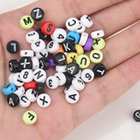 200x Alphabet Letters Charm Spacer Loose Beads Jewelry Making For DIY Bracele YK
