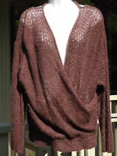 REDUCED Urban Outfitters Free People Oversized Faux Wrap Alpaca Sweater Sz S