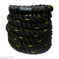 Komodo Battle Rope Power Training 9M/38mm Battling Sport Exercise Fitness Gym