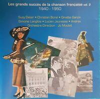 CD LES GRANDS SUCCÈS DE LA CHANSON FRANÇAISE 1940 -1950 Ref 3769