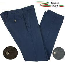 Pantaloni Uomo Elasticizzati Classico Tasca America Jeans Tinta Unita Eleganti