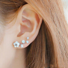 Shell Imitation Branches Jewelry Leaves Accessories Earrings Pearl Flower Stud