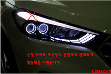 Head Light Surface emitting LED Circle Eye Turn Signal For 2016+ Hyundai Tucson