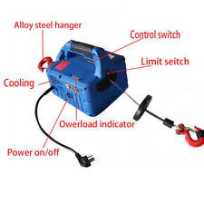 110V 450KG*7.4M   Household  Electric Crane Winch With Wireless Remote Control