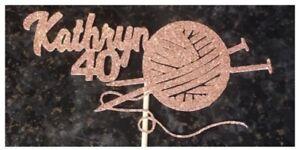 Personalised Knitting Cake Topper
