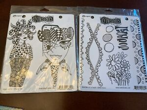 Dyan Reaveley's Dylusions Collections Stamps, postcards and adhesive canvas NEW